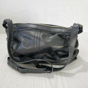 Banana Republic Purse Hobo Black Leather